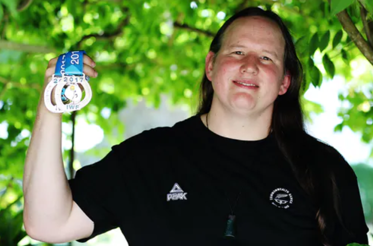 Laurel Hubbard won two gold medals at the 2019 Pacific Games in Samoa