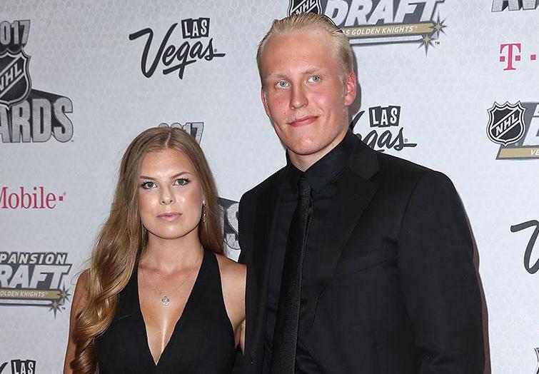 Patrik Laine and his girlfriend, Sanna Kiukas