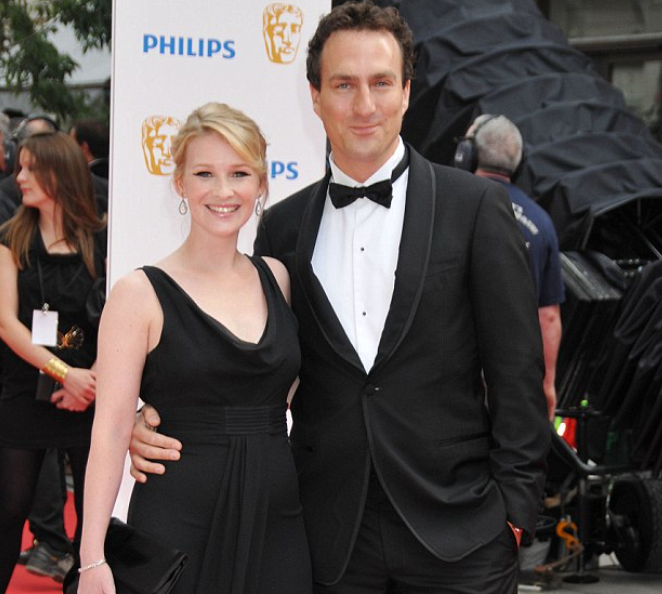 Joanna Page and her husband, James Thornton