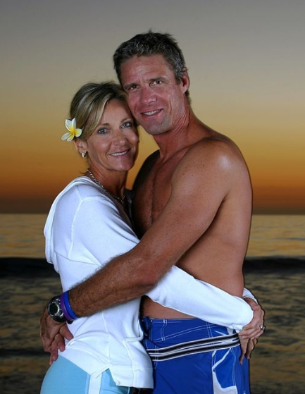 Karch Kiraly and his wife, Janna