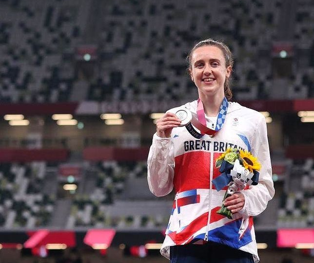 Laura Muir took the Silver Medal in the 1500 meters at the 2020 Olympic Games in Tokyo