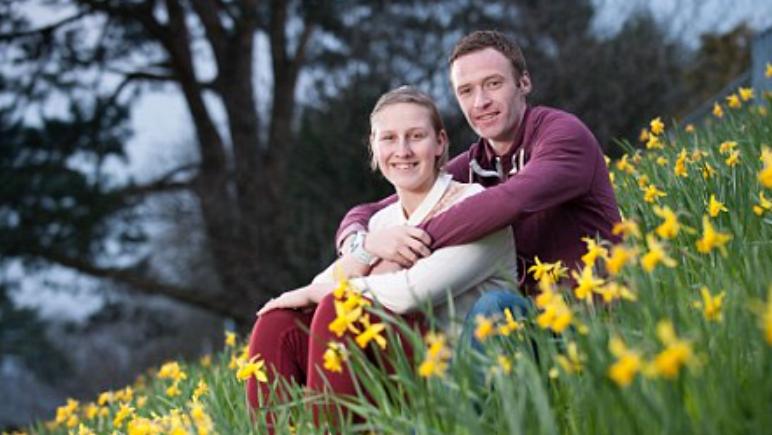 Holly Bradshaw and her husband, Paul Bradshaw