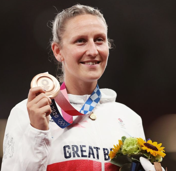 Holy Bradshaw claimed bronze in the pole vault at the Olympic Stadium in Tokyo
