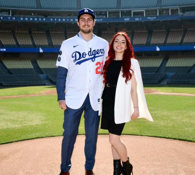Trevor Bauer and his ex-girlfriend, Rachel Luba