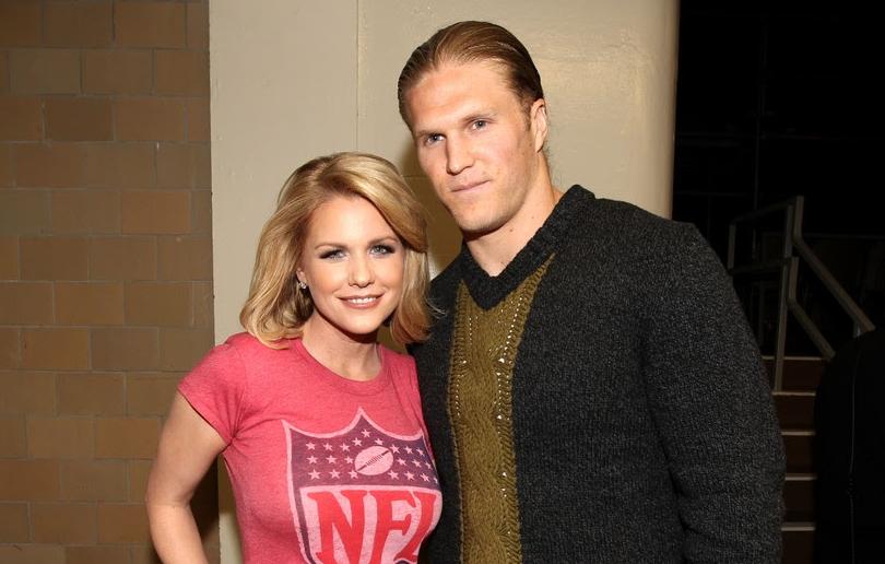 Clay Matthews III and his wife, Casey Noble