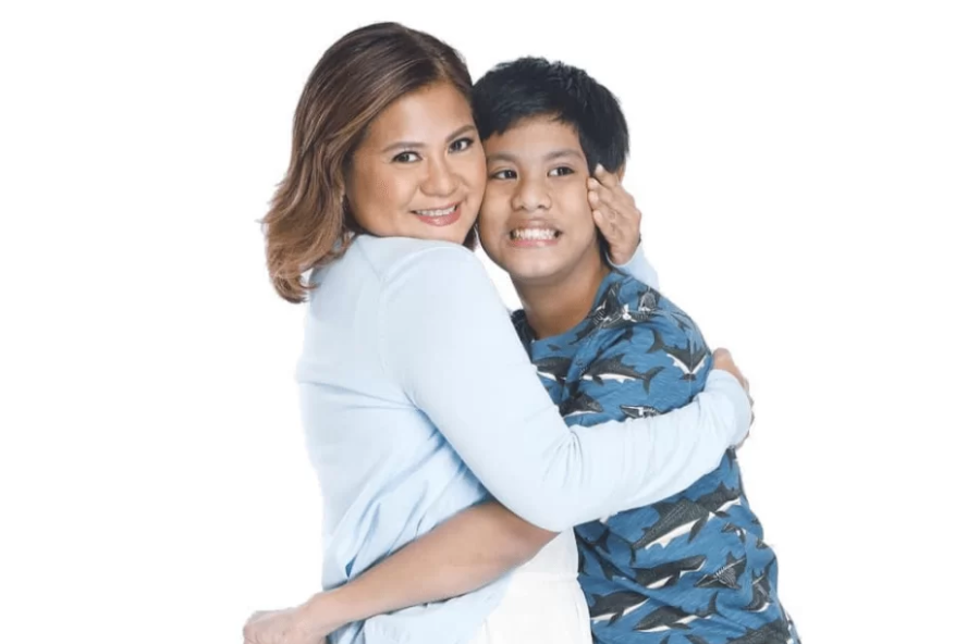Candy Pangilinan and her son