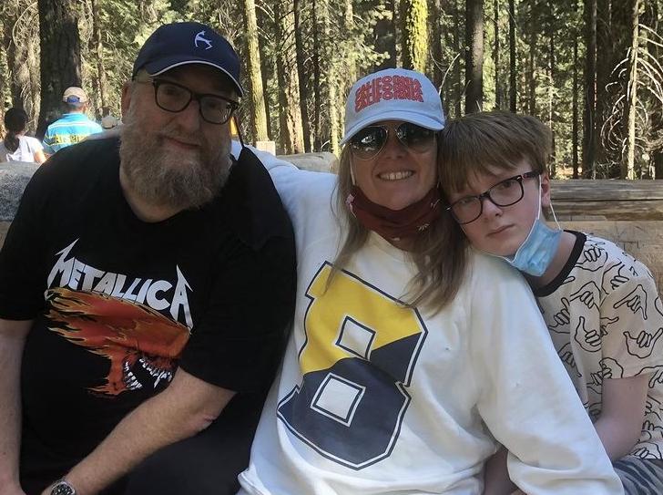 Melanie Truhett with her husband and their son