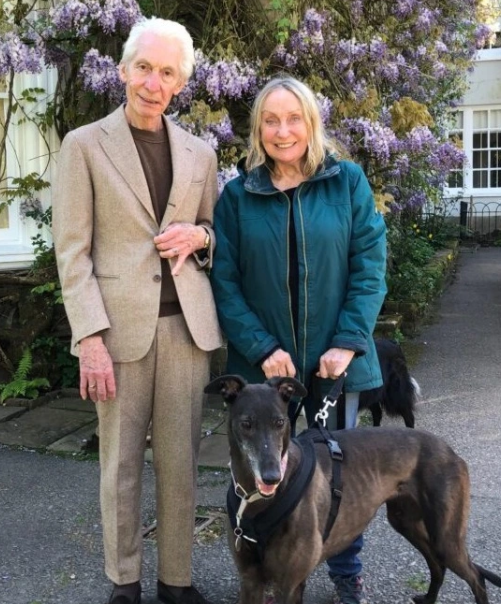 Charlie Watts and his wife, Shirley