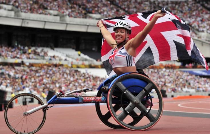 Hannah Cockroft, a British wheelchair racer