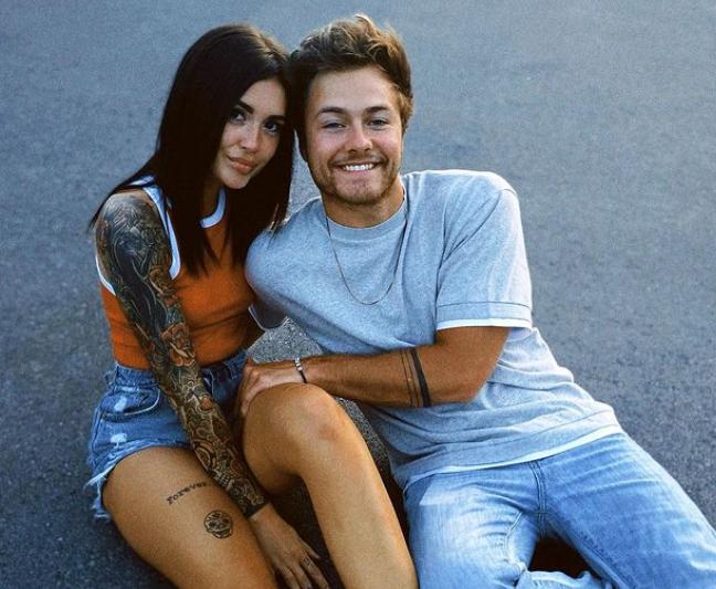 Peyton Meyer and his girlfriend