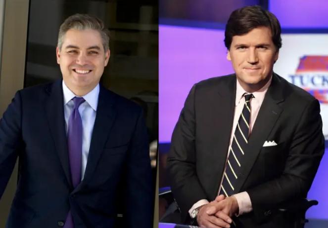 Jim Acosta (Left) and Tucker Carlson (Right)