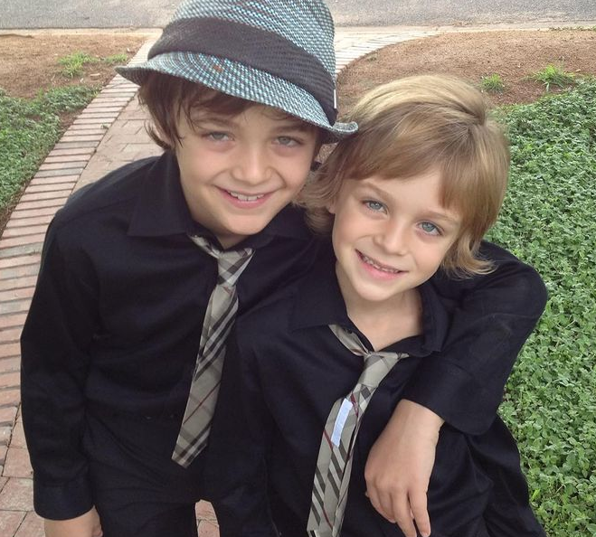 Avi Angel and his brother, Asher Angel