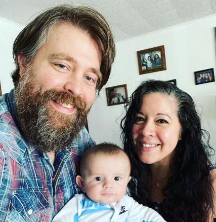 Gina Brillon with her husband Jeremy Oren and their son, Jayden Gabriel Oren