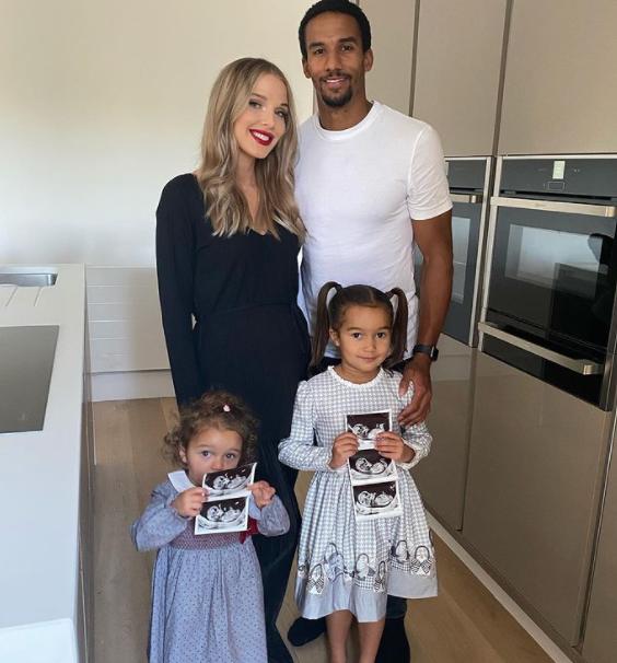 Scott Sinclair with his girlfriend, Helen Flanagan and their kids