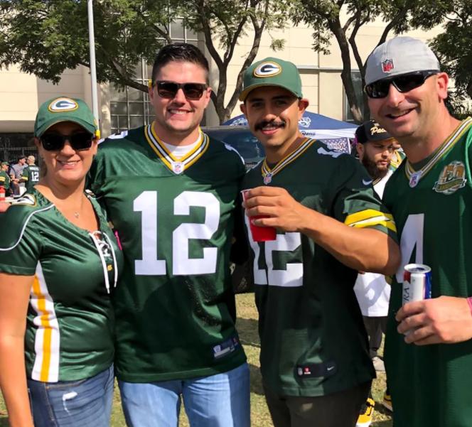 Joshua Hall is a fan of Green Bay Packers