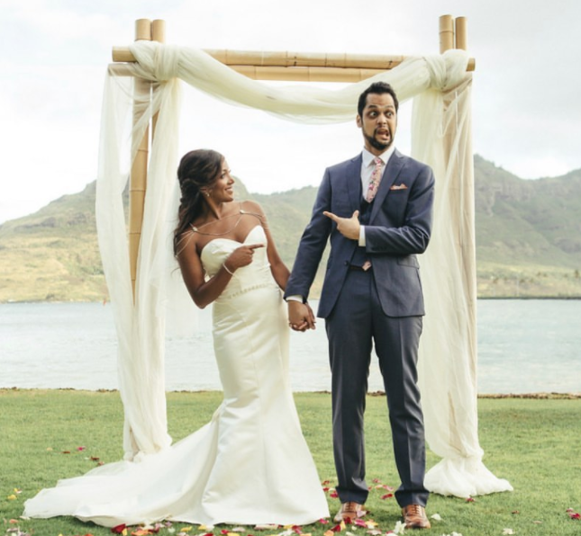 Grant Savoy and his wife, Mickey Guyton Wedding Picture