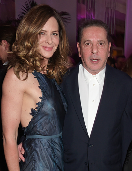 Trinny Woodall and her partner, Charles Saatchi