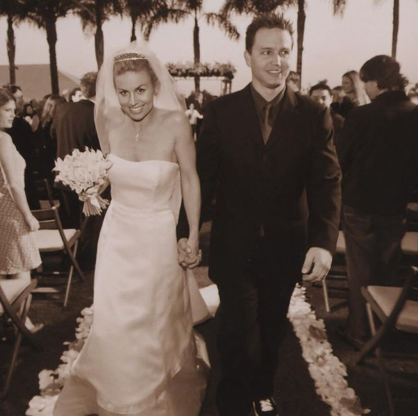 Mark Hoppus and his wife, Skye Everly