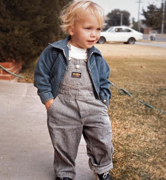 Mark Hoppus During His Childhood Age