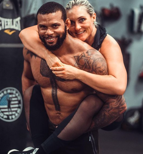 Thiago Santos and his wife, Yana Kunitskaya