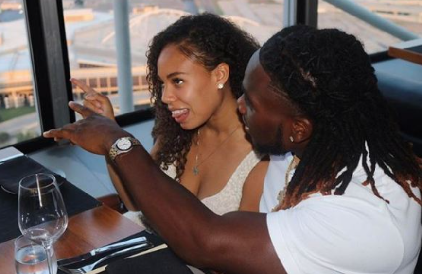 Jaylon Smith and his girlfriend, Nevada Jones
