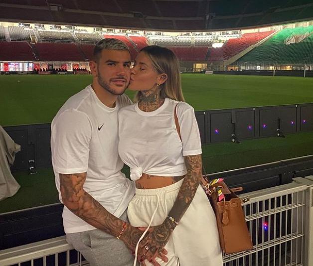 Theo Hernandez and his girlfriend, Zoe Cristofoli