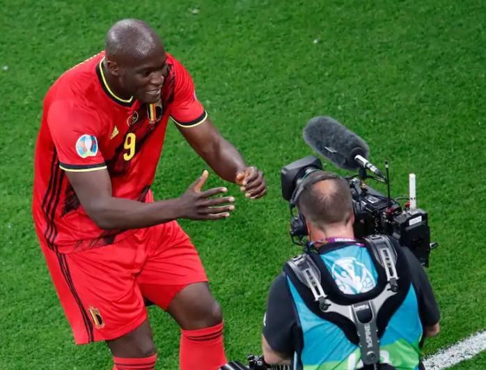Romelu Lukaku shouted 'Chris, Chris -- I love you' into a pitchside camera after scoring goal against Russia
