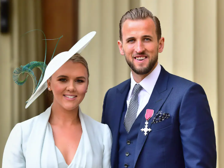 Harry Kane and his wife, Katie Goodland