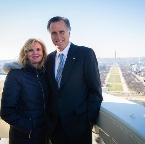 Mitt Romney and his wife