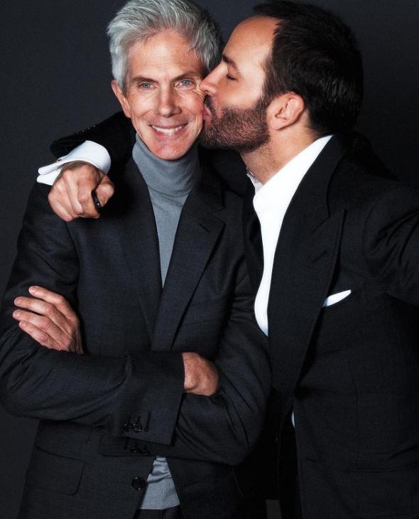 Tom Ford Kissing His Partner, Richard Buckley