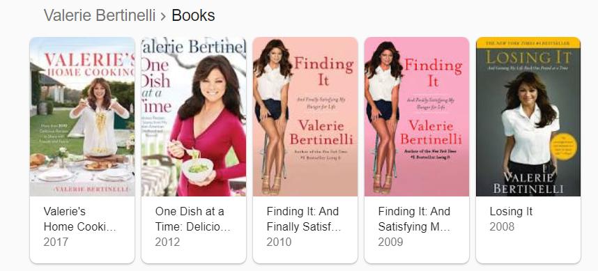 Valerie Bertinelli Books